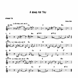 a song for you by soren bebe trio sheet music