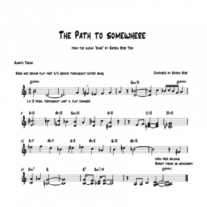 sheet music for the album home by soren bebe trio